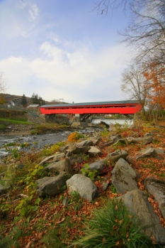Covered bridge at Taftsville, Vermont taken Wednesday, Oct. 16, 2013acisc