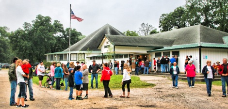 As Old Glory flys people start gathering for the Independence Day celebration in Spillville o (2)