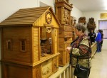 Edith Humpal of Calmar looks at a one of the famous Bily Clocks.