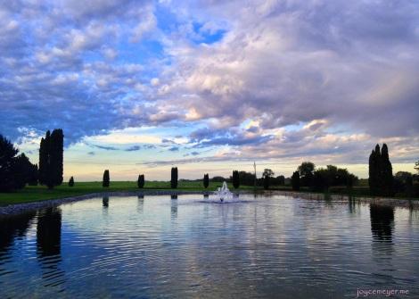 South Winn CC pond reflection by Calmar