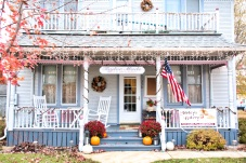 Taylor Made B&B was all decorated for the open house of Shirley's Bakery in the same building.