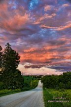 Lincoln highway road by Decorah sfjm