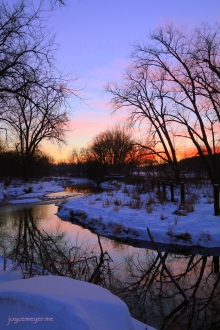sunset on trout stream by DecorahIMG_2387ejm