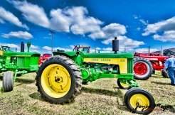Parade of tractors in Castalia