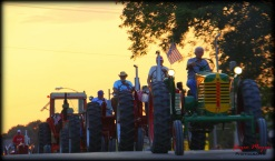 Ossian Days Tractors on Parade at dusk