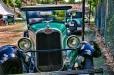 sky reflects of the shiny vintage 1927 Chevrolet from Kansas