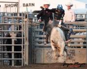 at the fair in Decorah-Hangin' on -Marvin Yoder (bg) CC Bull Co. crew