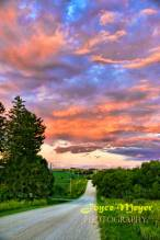 country road Lincoln highway road by Decorah Iowa