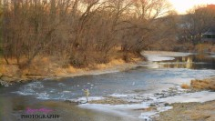 Upper Iowa river Decorah fishing day after Christmas